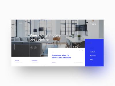 Engin. Digital Best Partner user interface user experience tipography creative studio white blue desktop web ux ui