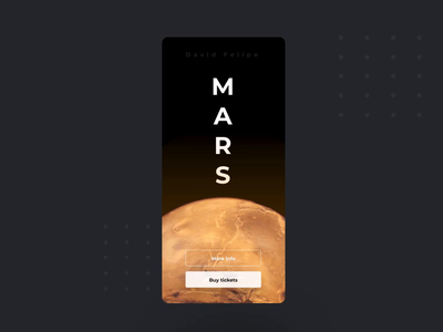 Mars invisionstudio red black planet rocket iphone booking travel universe mars app ui user interface