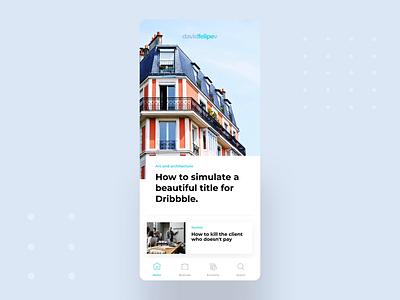 🗞Digital Newspaper gif video motion blogger social iphone newspaper blog ui app user interface