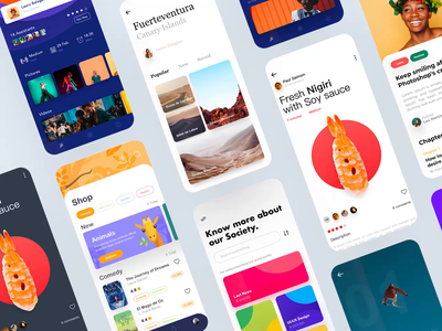 My 2019 in designs ui kit 2019 trend user interface iphone app compilation year 2019