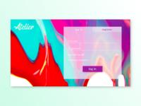 Log In screen / 30 Days 30 UI Designs #10