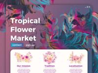 Flower Market Landing Page / 30 Days 30 UI Designs #12