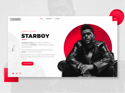 Daily UI #001 - About page daily web interface artist ux ui design page about the weeknd
