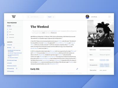Wikipedia Redesign Concept typography ux ui concept design wiki wikipedia