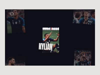 French Team - Drag Animation cup world world cup ux ui motion animation soccer football drag team french