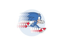 Sonic The Hedgehog graphic desgin vector illustration freelance designer vector artwork flat illustration flat design adobe illustrator