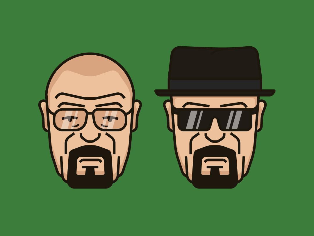 Walter White - Heisenberg freelance designer flat illustration adobe illustrator tv show breakingbad heisenberg walter white