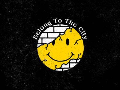 BELONG TO THE CITY city life happy face emoticon smiley adobe photoshop adobe illustrator