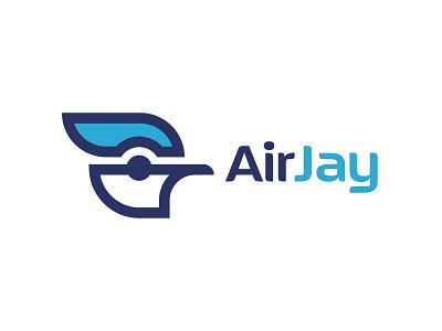 Airjay Branding - College Project mark design project college branding modernist logo animal bird jay airways airline