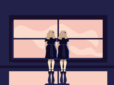 All Work And No Play twins illustration girls halloween