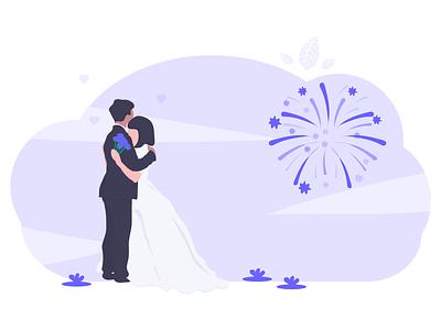 Wedding celebration happy fireworks love husband wife groom bride