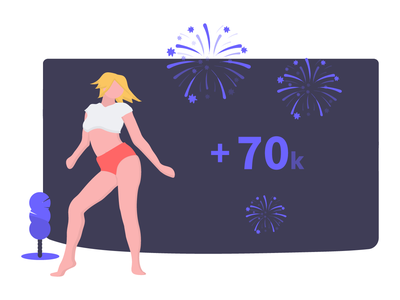 70,000 unDraw users on November!!! character woman illustration