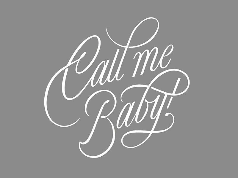 Call me Baby! procreate art t-shirt love baby procreate creative branding type vector artdirection lettering typography design