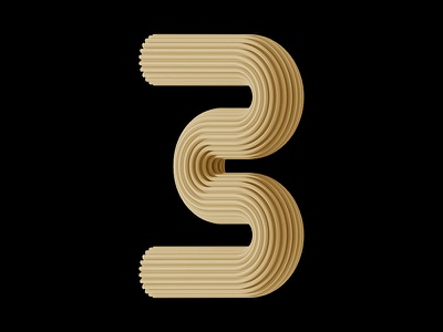 Three... illustration art artdirection type lettering typography design