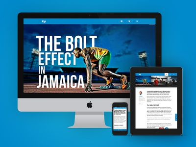 The Bolt Effect (Responsive) responsive web design bolt effect running article ipad imac iphone large image