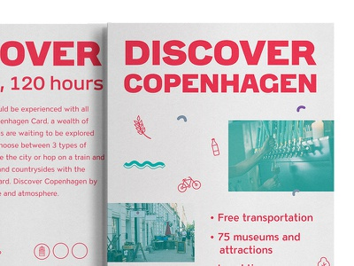 Copenhagen Card Flyer flyer graphic design copenhagen card