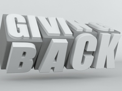 Giving back logo 3d type typography type 3d