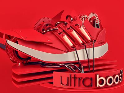 Adidas Ultraboost gears sneaker tube light red ultraboost 3d adidas