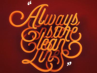 Always ensure 3dtype typography 3d creative art script adobe orange lettering illustrator illustration