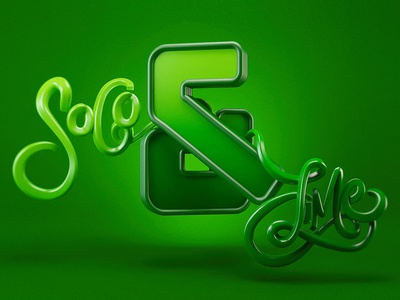 Soco & Lime soco and lime 3d type beverage drink whiskey green type typography ampersand