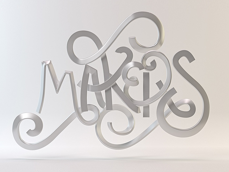 Makers splines type illustration 36daysoftype 3d type typography lettering 3d lettering