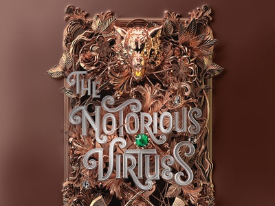 The Notorious Virtues - US Edition 3d illustration 3d typography 3d book cover cover book