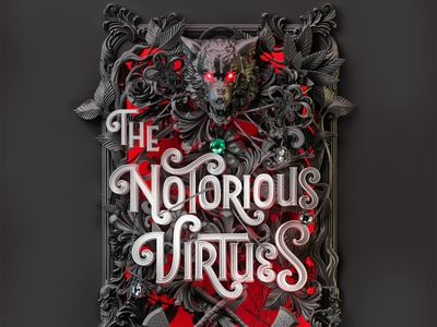 The Notorious Virtues - UK Edition illustration typography 3d type print cover design book cover