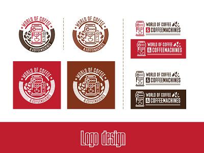 """logo design for new brand """"World of Coffee"""" emblem logodesign branding branding design logo design logodesigner logomaker logotype"""
