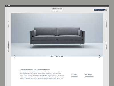 Interior Website abstrakt gray light minimal navigation design interior website
