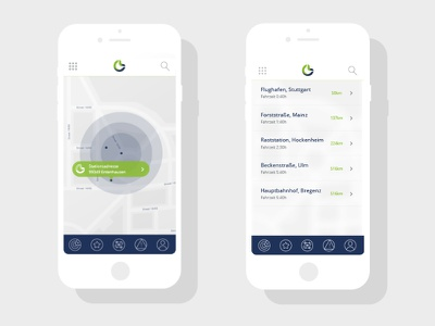 E-Mobility App ios android iphone app ui