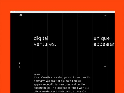 Digital ventures. minimalism clean sketch website homepage