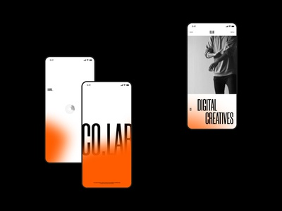 CO.LAB creative ui design digital web typography orange color gradient uiux ui mobile ui mobile interface design