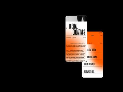 CO.LAB uiux web app digital mobile ui creative orange gradient typography color web ui mobile interface design