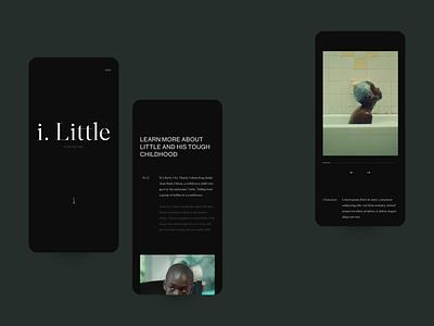 Moonlight Website Concept 001 graphic design typography dark green moonlight clean webdesign mobile ui interface design