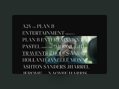 Moonlight Website Concept 002 hover dark moonlight green graphic design typography web ui interface design