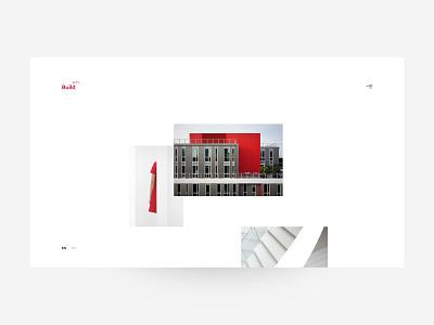 Build セブン concept architecture architecture website web minimalism branding design ui interface webdesign