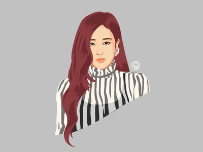 Blackpink Rose portrait art digitalpainting sketch fanart character illustration