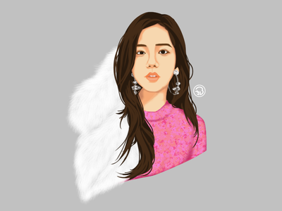 Blackpink Jisoo digital art digital portrait digitalpainting sketch character illustration