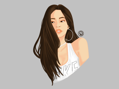 Blackpink Jennie digital portrait digitalart sketch digitalpainting character illustration