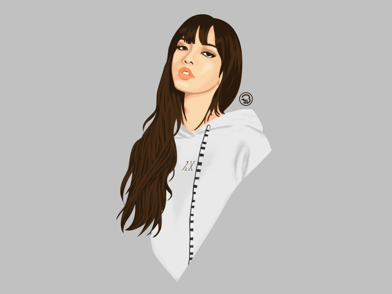 Blackpink Lisa digital portrait digitalart digitalpainting sketch character illustration