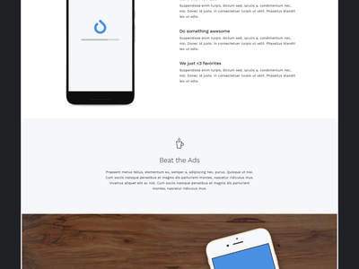 Joojoo Landing Page app mobile photo minimal clean startup splash website