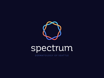 Spectrum Dermatology biotech medicine energy seattle doctor medical dermatology identity branding logo
