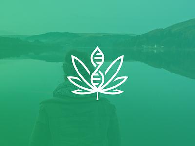 Cannabis DNA vape research pharmaceutical medical marijuana logo leaf dna dispensary cannabis cannabidiol biotech