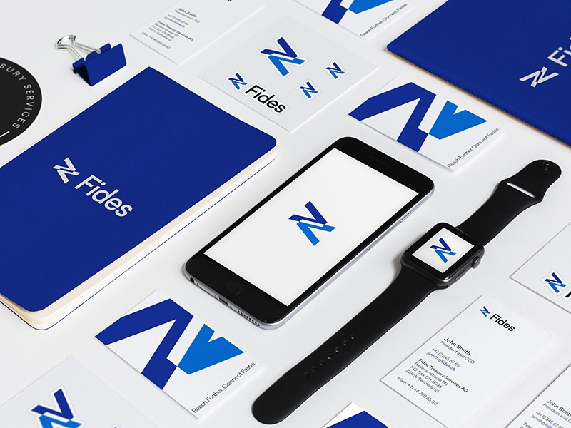 Swiss Banking Tech Identity print bank blue branding capital corporate finance swiss treasury logo mark