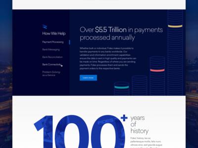 Swiss Banking Tech Web Detail web ui ux swiss bank finance treasury capital blue corporate branding responsive