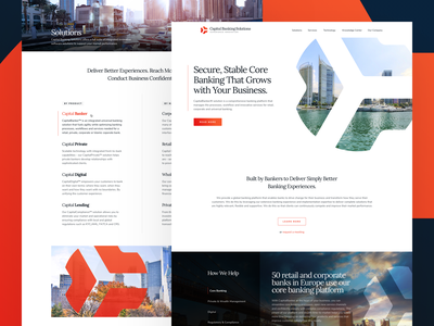 Capital Banking - Landing platform ui orange management wealth private global enterprise mobile b2b business compliance capital finance banking homepage landing design web  design website