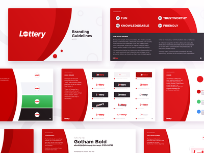 Lottery.com Branding sales corporation business insurance finance investment brand commercial identity guidelines website ui app company lotto gambling red logo branding lottery