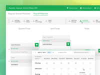 Tennis Team Management sketch ux marketing design web athlete green platform custom software product ui app bracket dashboard employee management sport tennis