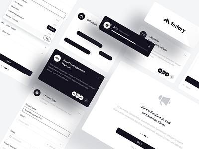 💎 Interface Elements V2 app design popup module navigation webdesign website typography ui ux clean white black desktop dashboard interface element design app