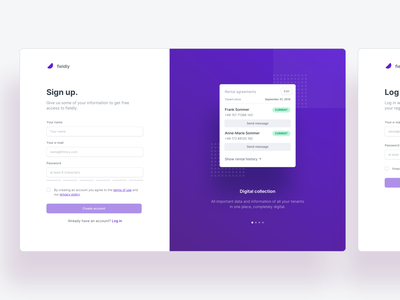 🔑 Sign up / Log in pagination key onboarding user minimal clean desktop sign up page product application app web ui ux register log in sign up